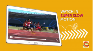 Viewers could stream replays in slow motion, thanks to the EVS C-Cast production system.