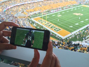 Baylor In-Game App offers live and on-demand video and other features only to fans in the stands.