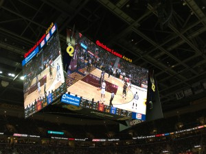 Quick Loans Arena's center-hung videoboard is designed to be seen from every seat in the house.