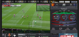 NBC Sports Live Extra offers a robust data display that tracks latency and remains in step with the user's live-video player.