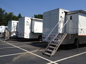 Three expandos and one straight trailer make up NEP's new SSCBS, which debuts this weekend with CBS golf coverage.