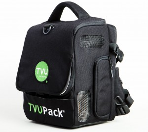 The NFL currently deploys TVU Networks' TVUPack TM8200 mobile uplink backpack transmitter.