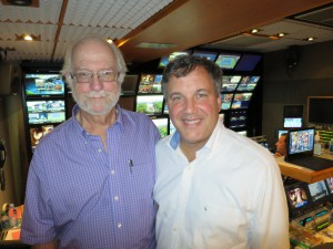 ESPN's Don Colantonio (right) with John Leland, who served as EIC for the ITV coverage